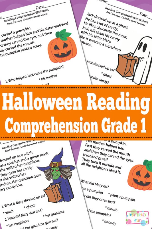 Halloween Reading Comprehension Worksheets For 1st Grade