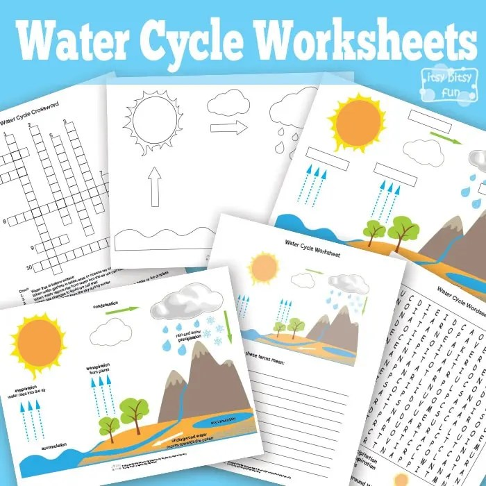 water cycle diagram with questions there will come soft rains plot free printable worksheets diagrams itsy bitsy fun