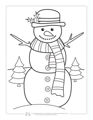 Winter Scene Coloring Page : winter, scene, coloring, Winter, Coloring, Pages, Itsybitsyfun.com