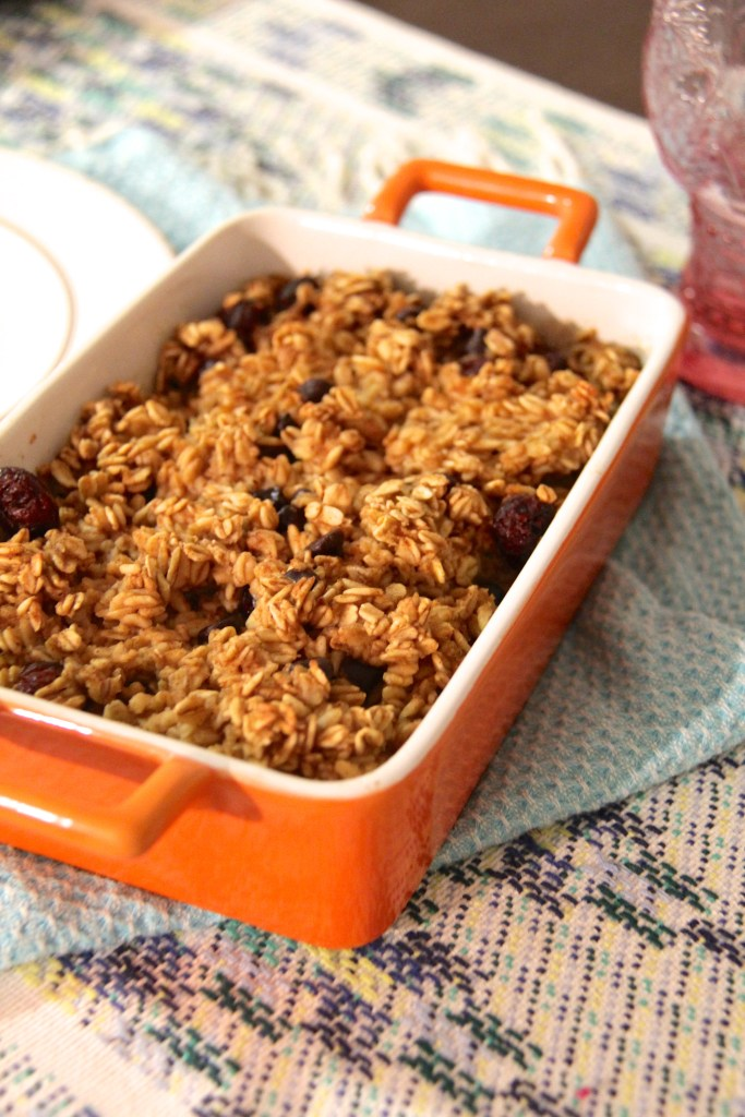 pumpkin breakfast oatmeal bake