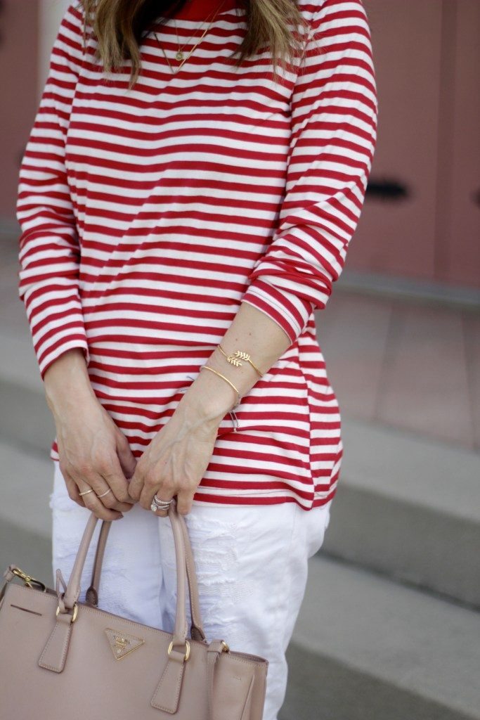red stripe top, itsy bitsy indulgences