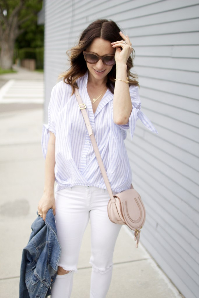 stripe shirt, itsy bitsy indulgences