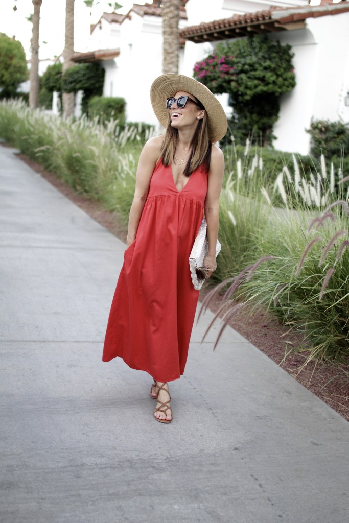 summer red dress, itsy bitsy indulgences