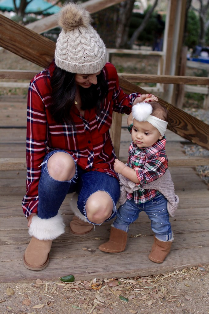 matching mom and daughter plaid, itsy bitsy indulgences