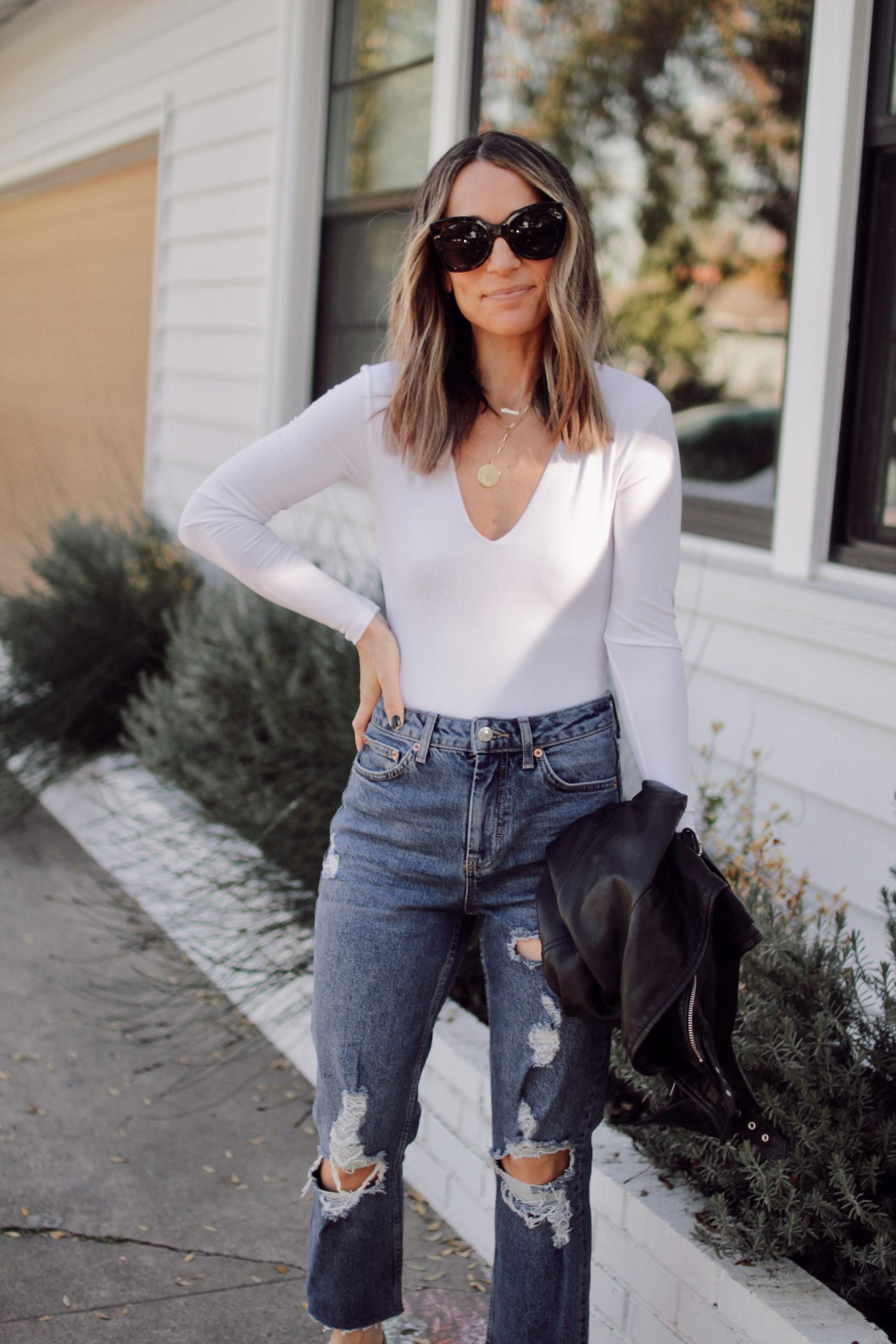 Everyday Style || The White Bodysuit 4 Ways