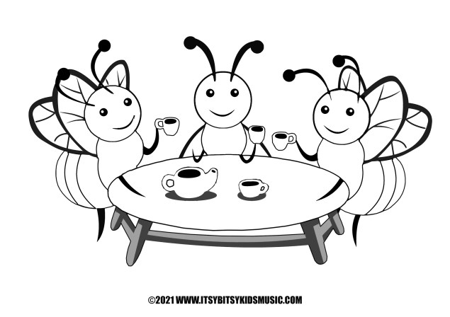 coloring page bees in pdf for free
