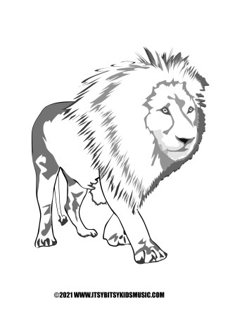 coloring page lion in pdf for free
