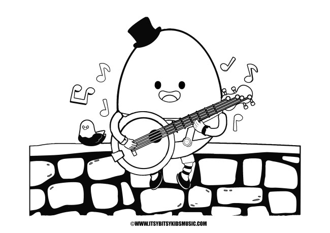 coloring page humpty dumpty in pdf for free