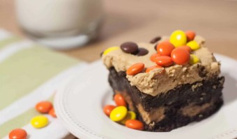 Fudgy Brownies with Peanut Butter Frosting
