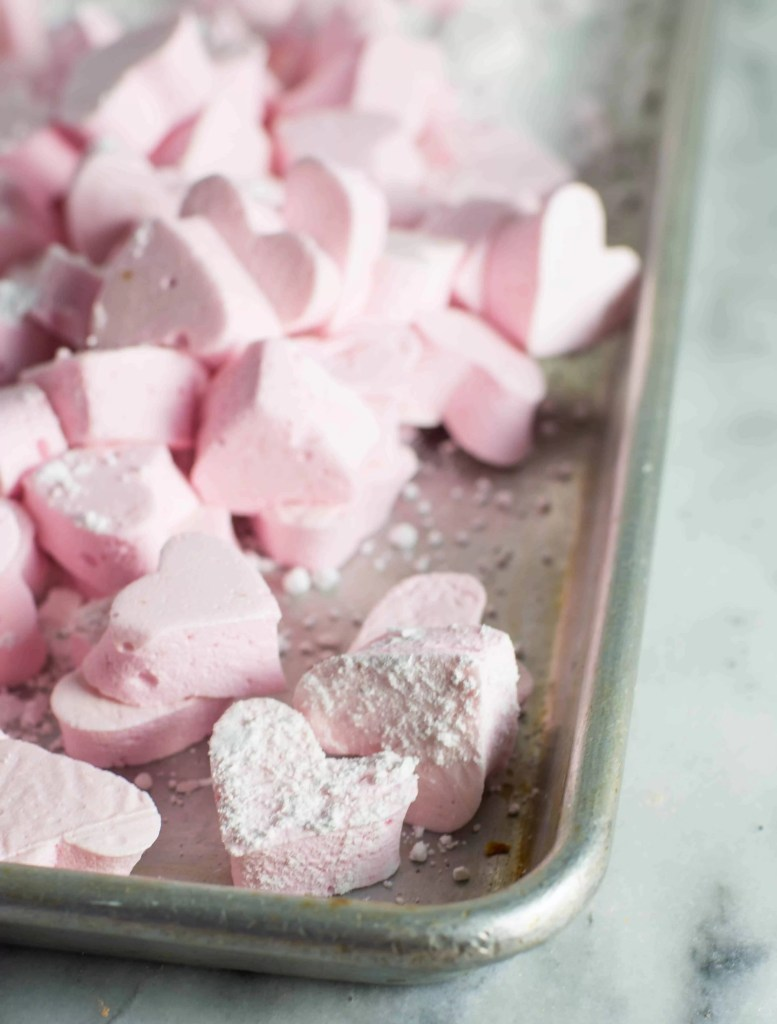 Raspberry Marshmallow Hearts - The Itsy-Bitsy Kitchen
