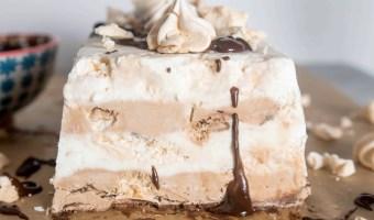 Frozen Double Chocolate Mocha Meringue Terrine