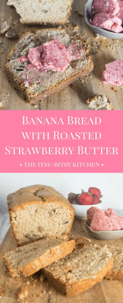Looking for a way to up your toast game?  Try roasted strawberry butter!  It couldn't be simpler to make and you're basically guaranteed to love it! #summer