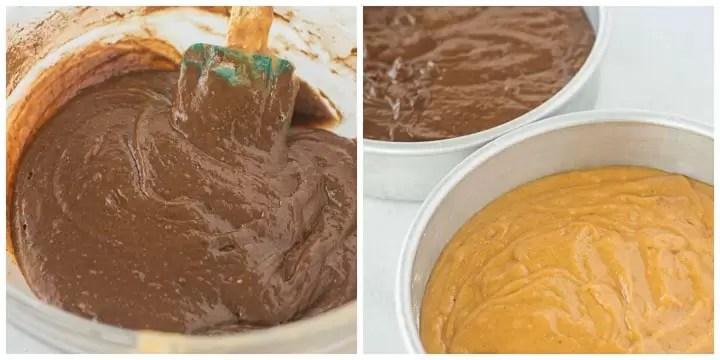 how to make chocolate pumpkin cake steps 5 and 6