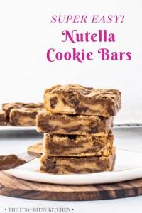 Pinterest image for Nutella bars