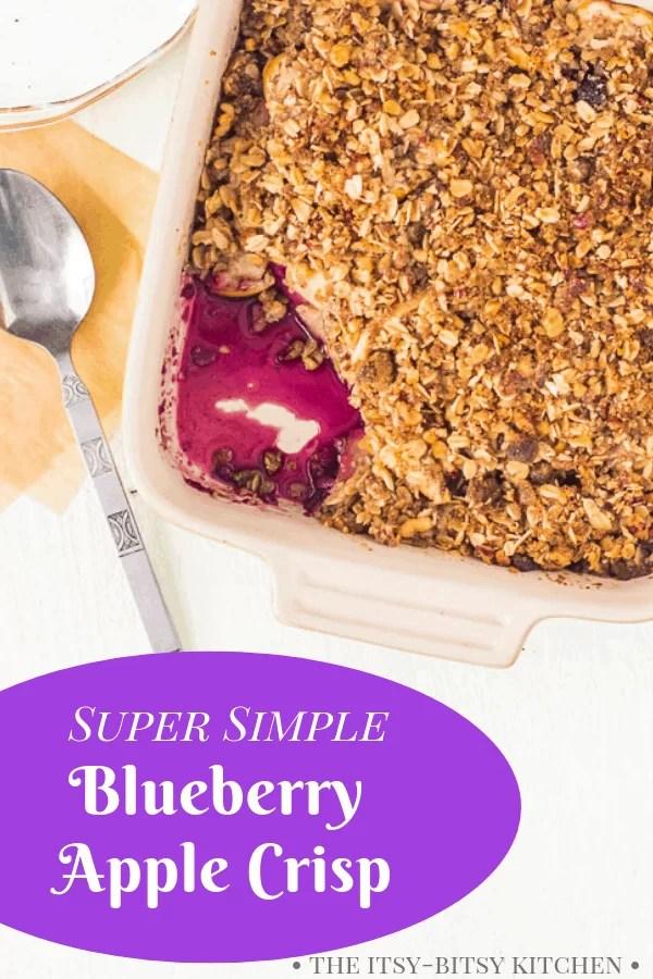 pin image for apple blueberry crisp