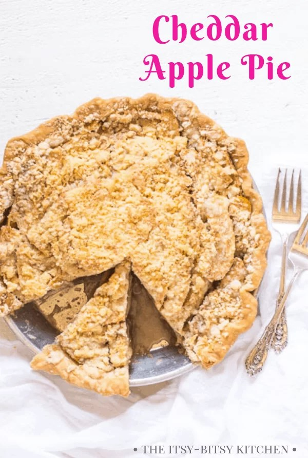 second pinterest image for cheddar apple pie