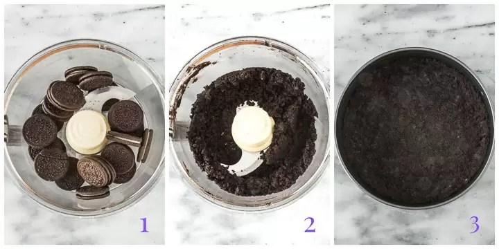 oreo crumb crust step by step