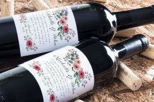 Personalised wine label for Weddings
