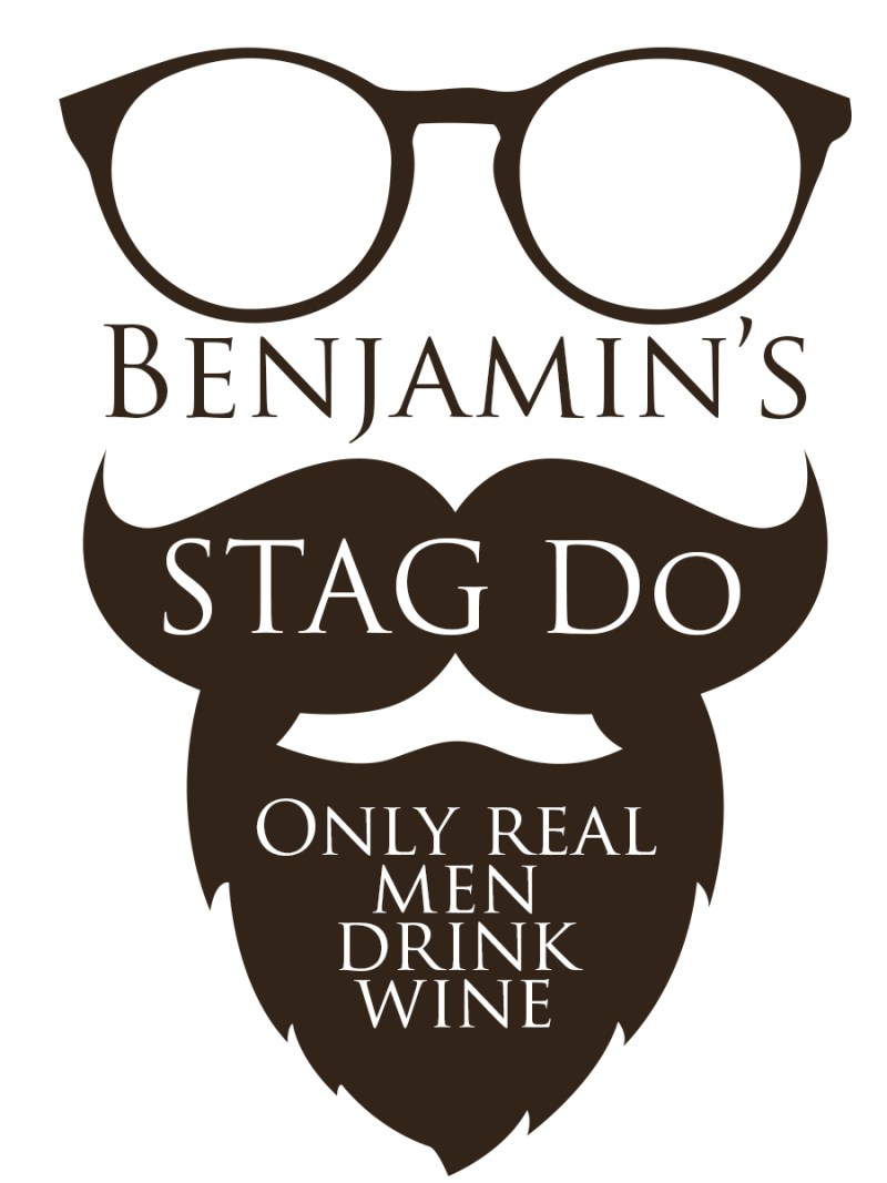 Personalised wine label for Stag do's