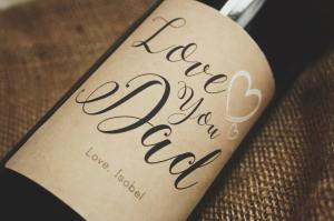 personalised wine label for Father's day - Classy