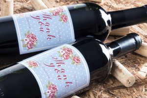 Personalised wine label for saying thank you