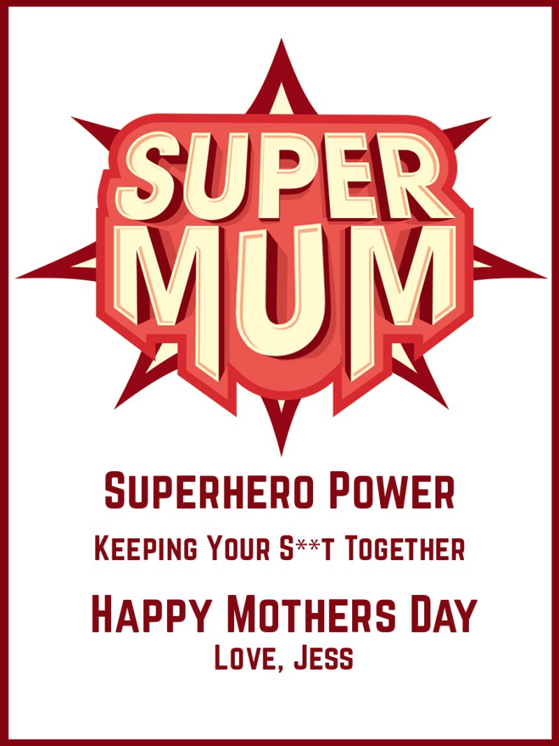 Personalised wine label for Mothers Day