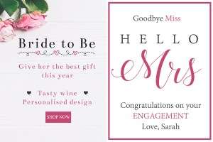 Personalised wine label for Engagements - Classy