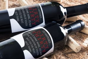 personalised wine label for birthdays - Dirty Thirty