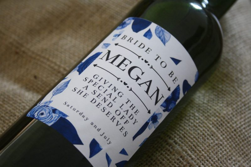 classy personalised wine for weddings