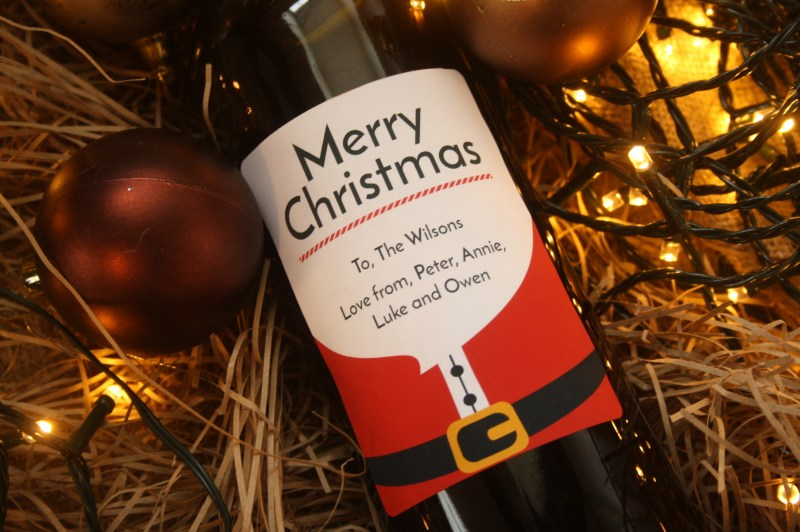 Personalised Wine - Christmas
