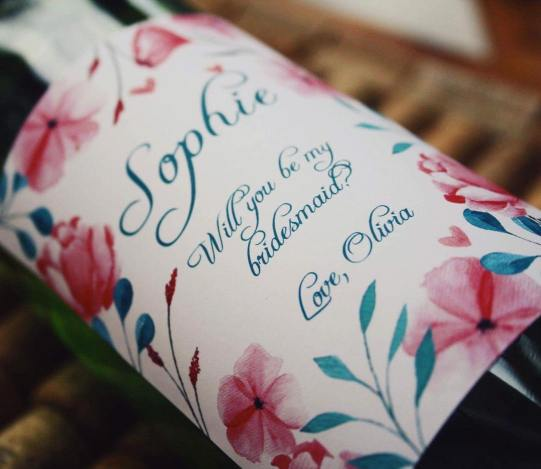 Personalised Wine - Bridesmaid