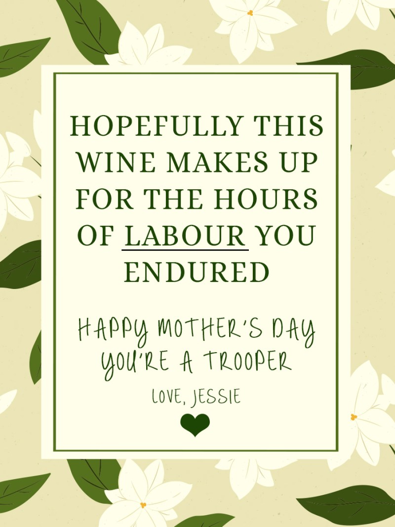 Mothers Day - Personalised label