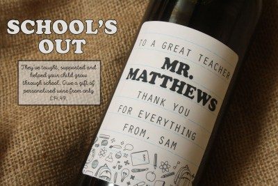 Gift for Teachers - Personalised Wine