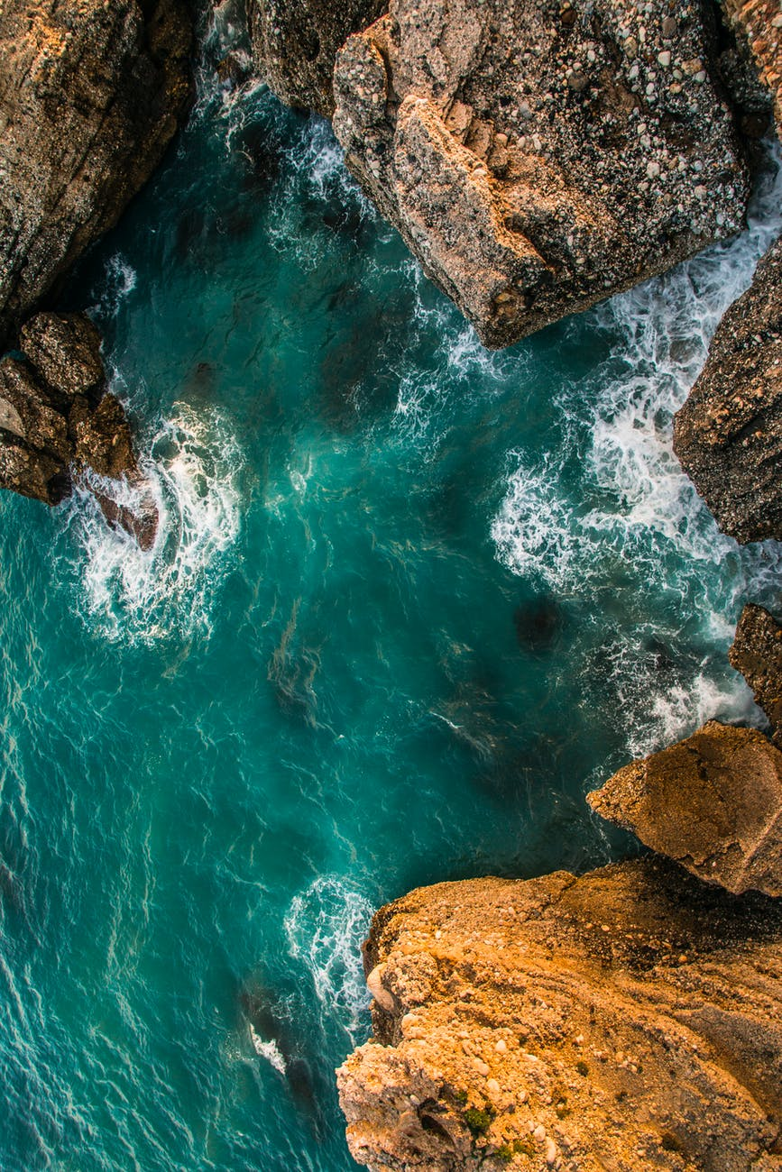 body of water aerial photography