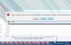 Windows - Delayed Write Failed