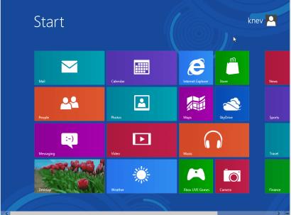 Windows 8 Release Preview - Metro User Interface Screen