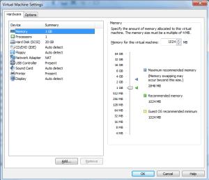 Windows 8-vmware configuraion Details