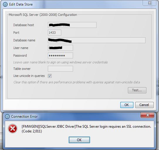 EDQ_MSSQL_SSL_error