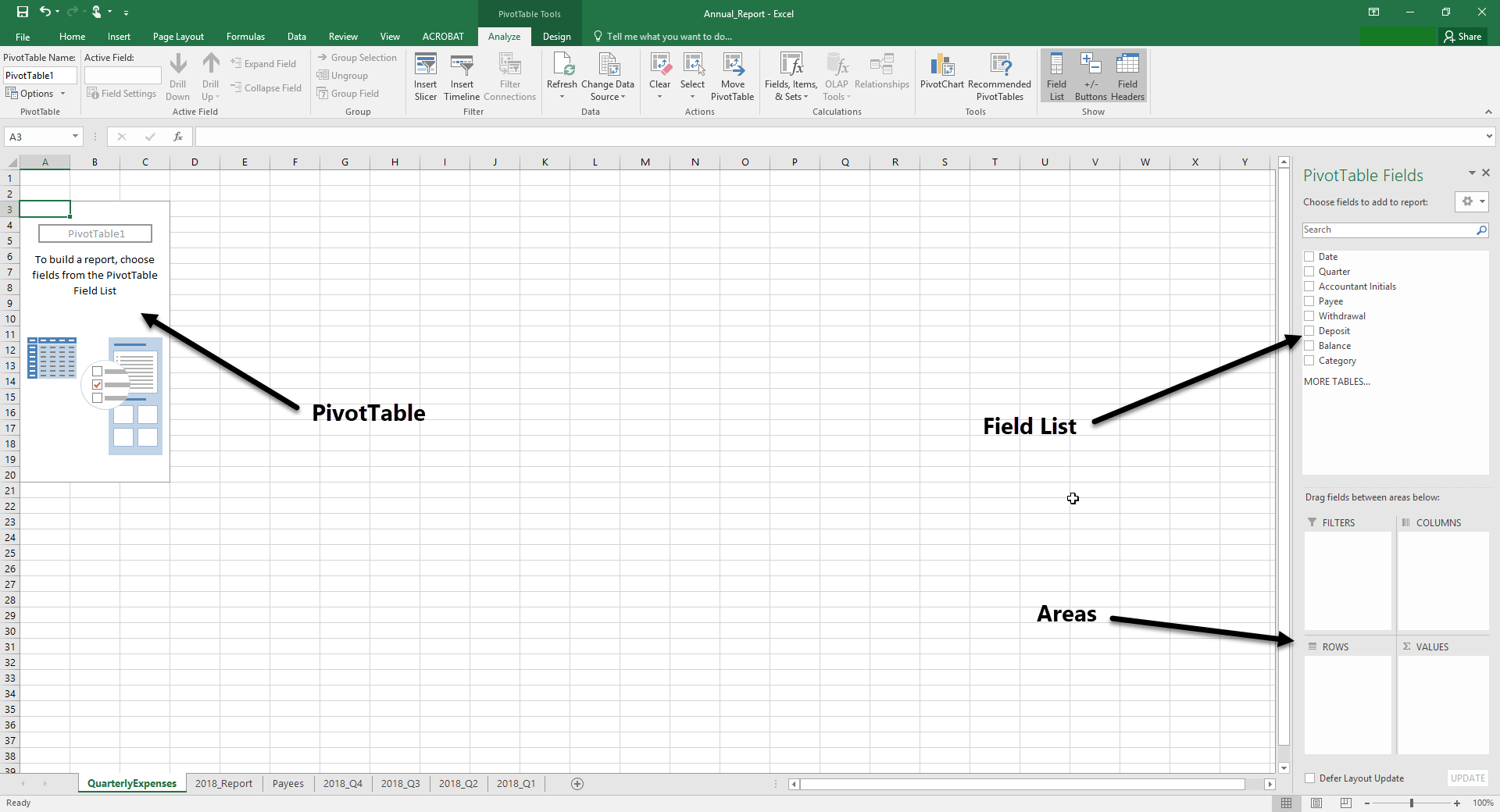 Creating A Pivottable Iu Only Files Excel Working With