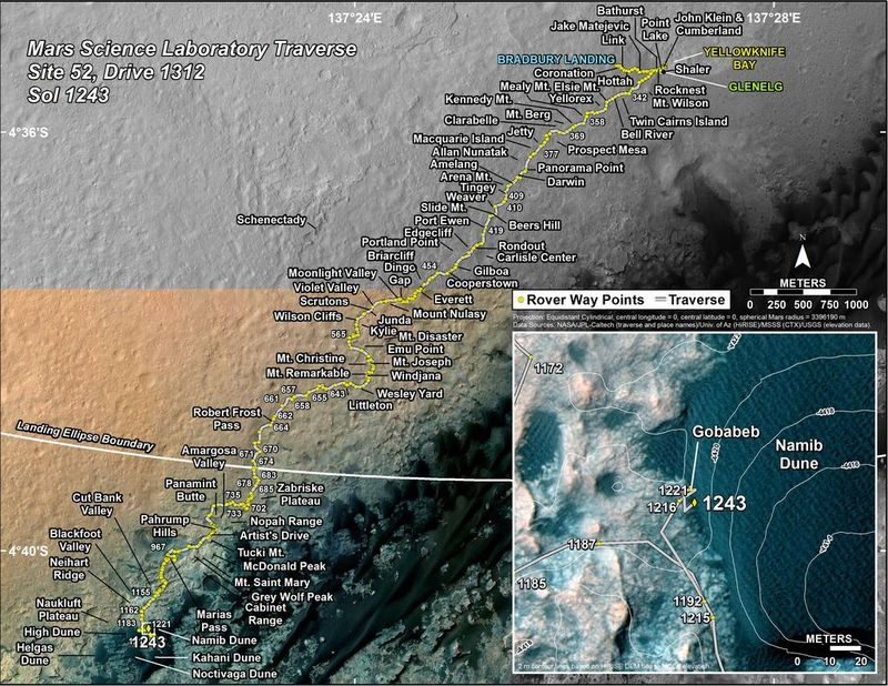 Curiosity Mars Rover at Namib Dune 1