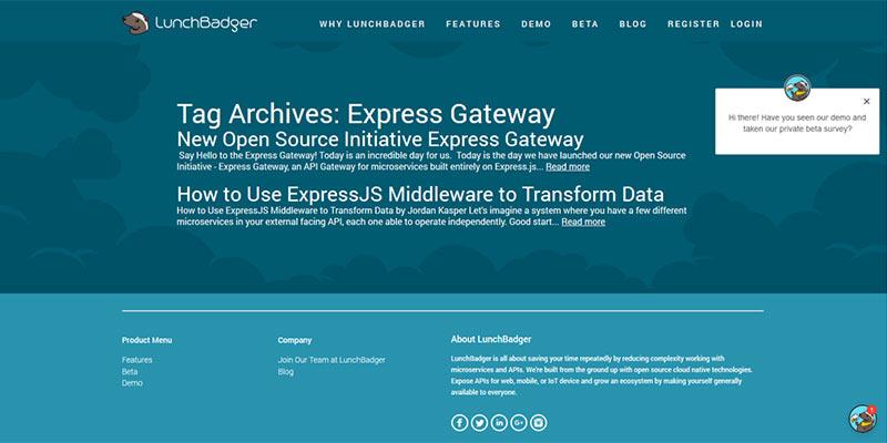 Une gateway Express pour activer des micro-services