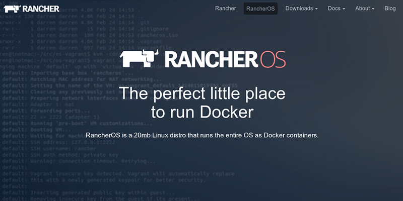 RancherOS, un Linux dockerisé