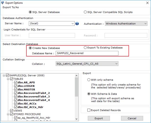 Restore SQL Server Database to New Database