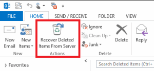 recover deleted items from server