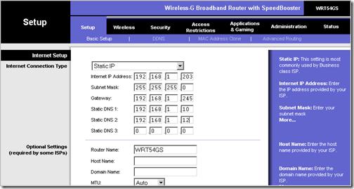 static IP addresses