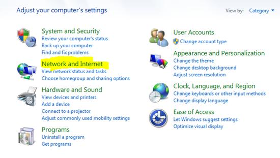 how to change internet ip address in windows 7