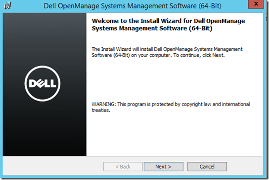 Install Dell OpenManage