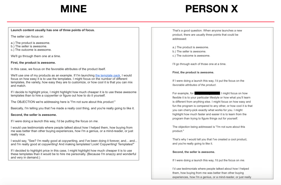 Mine vs. Theirs