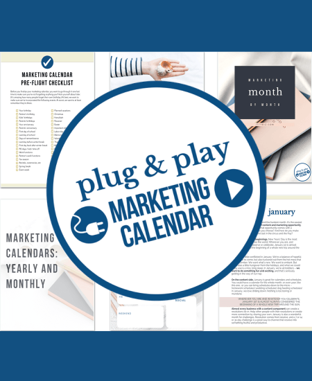 Plug & Play Marketing Calendar