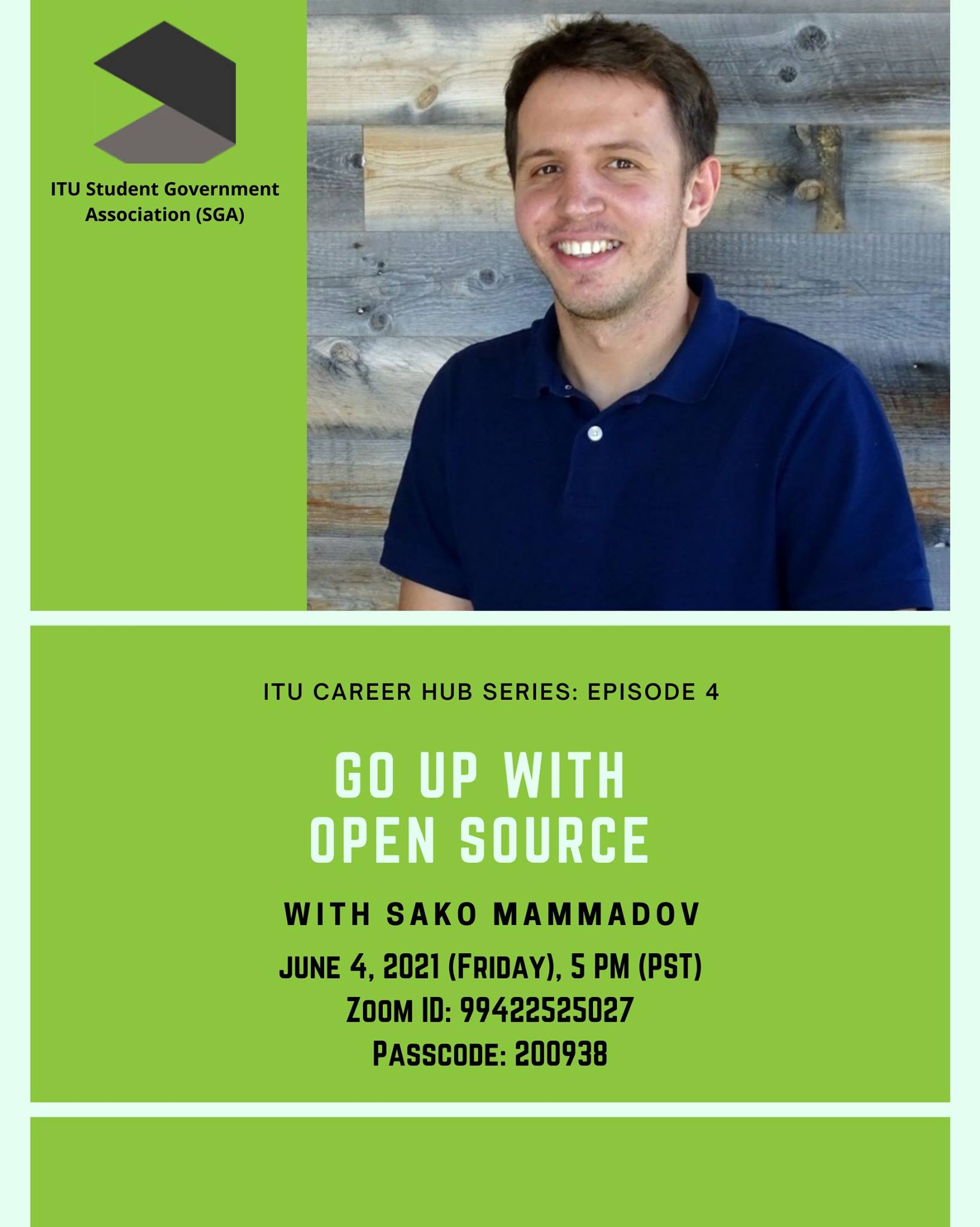 ITU Career Hub Series Episode 4 with Sako Mammadov!